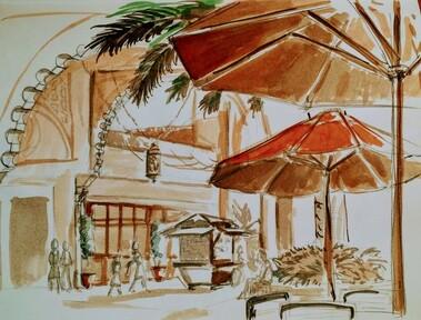 Outstanding Urban Sketching Class Larissa Marantz Bralicious Painted Fabric Chair Ideas Braliciousco